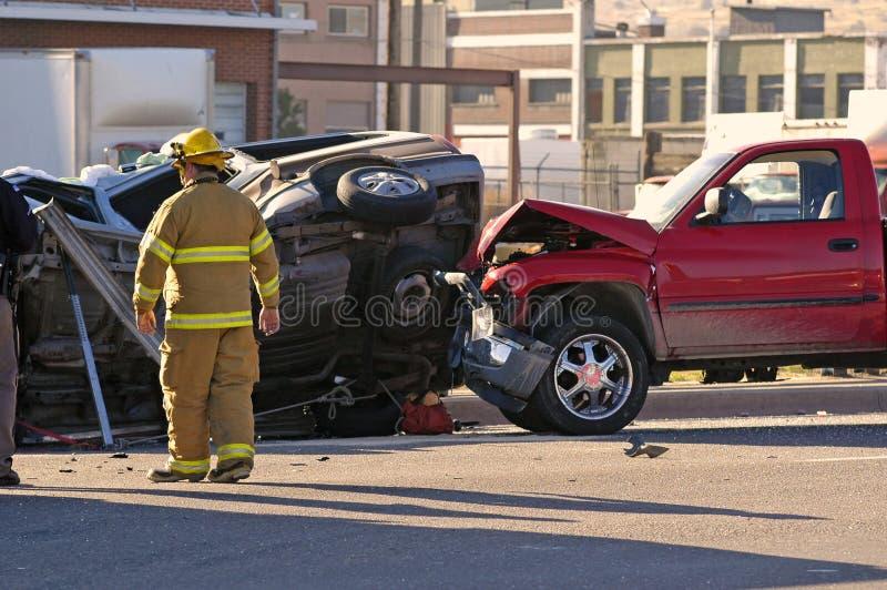 wypadek samochodu fotografia stock