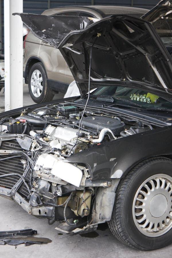 wypadek uszkadzający motorcar zdjęcie stock