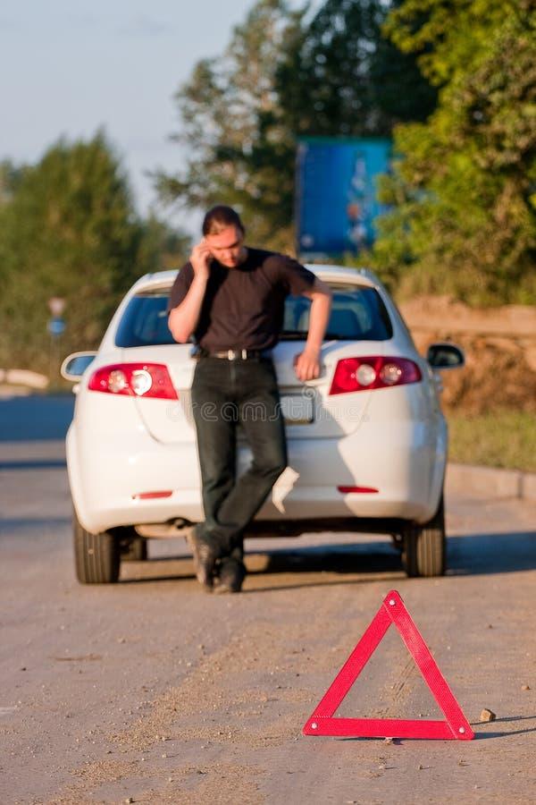 wypadkowa samochodowa droga fotografia stock