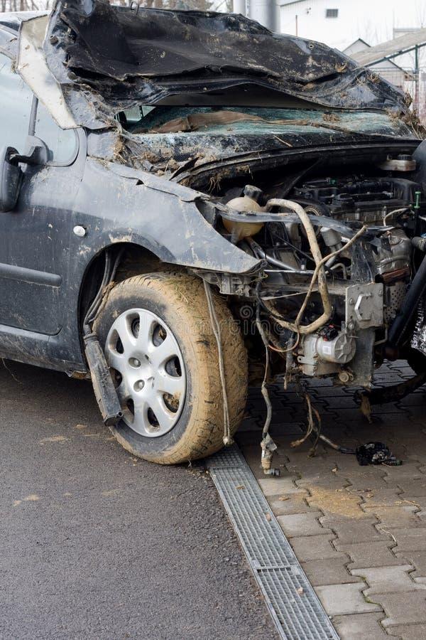 wypadkowy samochód obraz stock