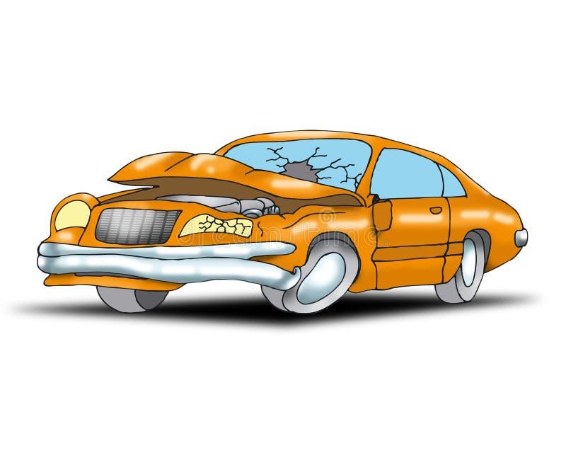 wypadkowy samochód ilustracja wektor
