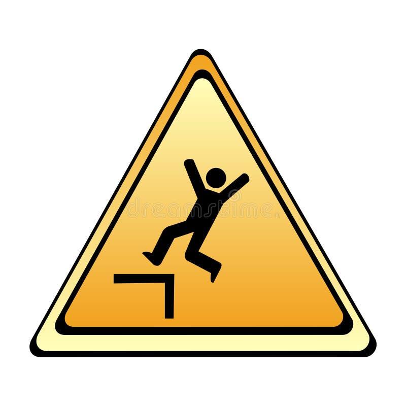 wypadku szyldowy ostrzeżenie ilustracji