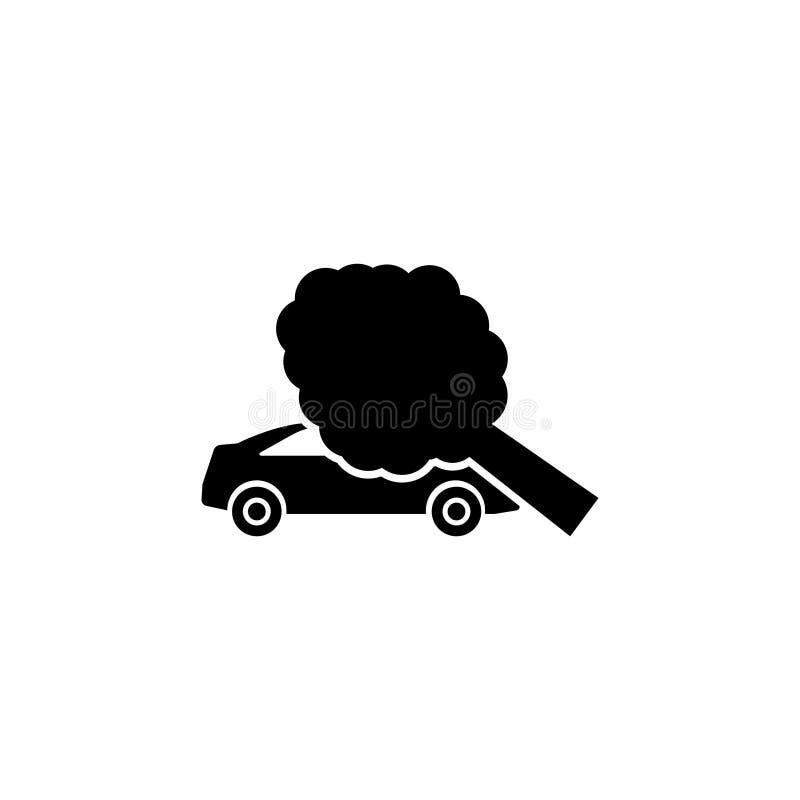 Wypadku Ulicznego drzewo Spadał Samochodowa Płaska Wektorowa ikona royalty ilustracja