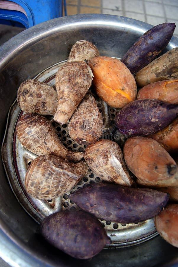 wyparowywa kartoflanego słodkiego taro fotografia stock