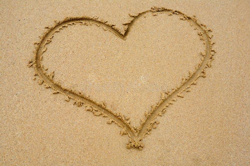 wypatroszone serce piasku zdjęcie royalty free