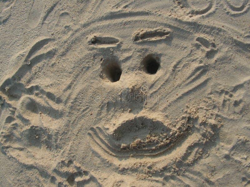 wypatroszone twarzy piasek. zdjęcia royalty free