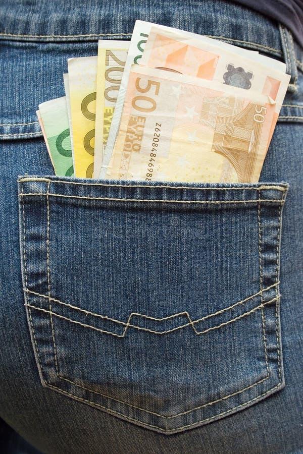 wypchany spodni w kieszeni obrazy stock