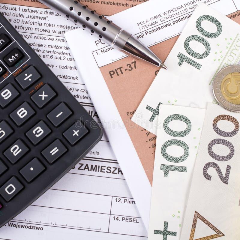 Wypełniać w połysku podatku dochodowego formy indywidualnej jamie zdjęcia royalty free