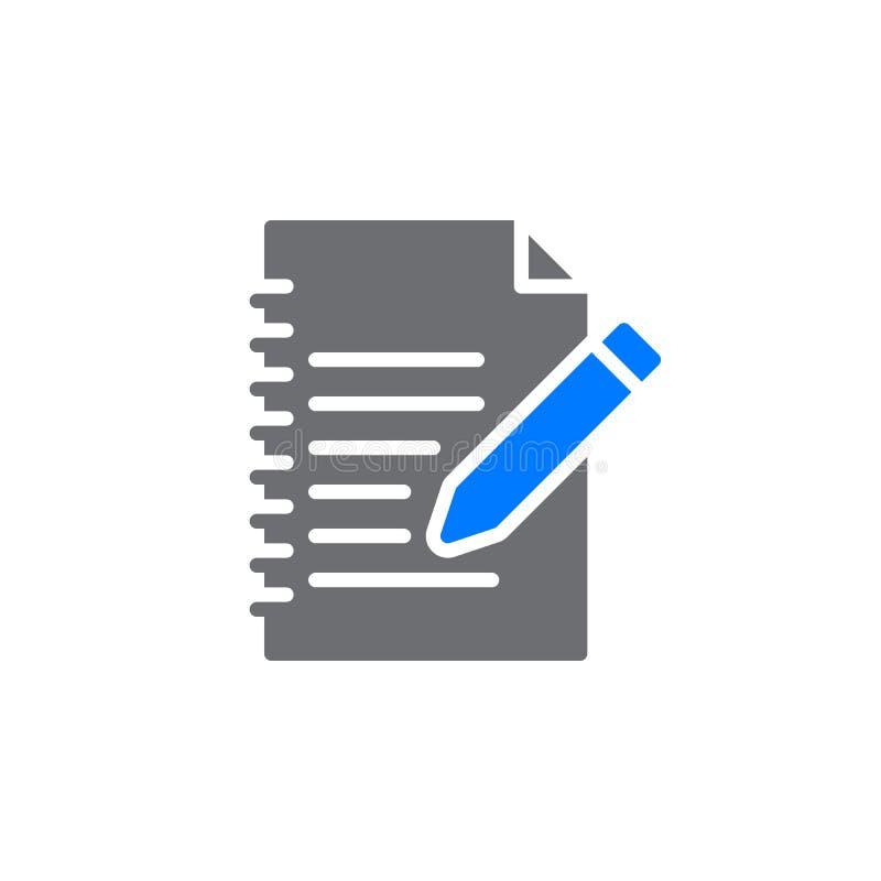Wypełnia wewnątrz formularzowego ikona wektor, wypełniający mieszkanie znak, stały kolorowy piktogram odizolowywający na bielu ilustracja wektor