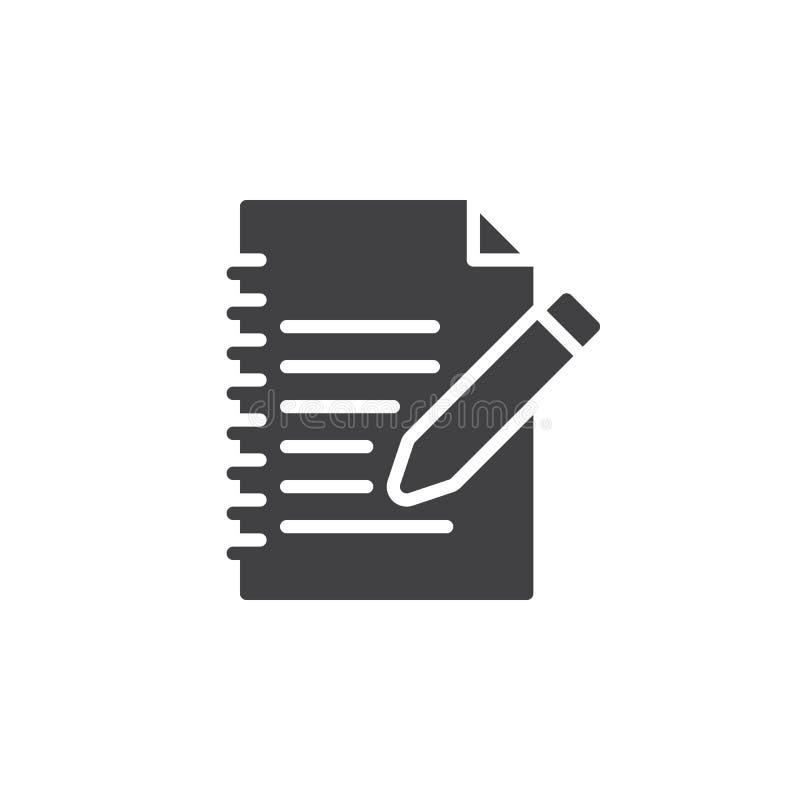 Wypełnia wewnątrz formularzowego ikona wektor, wypełniający mieszkanie znak, stały piktogram odizolowywający na bielu ilustracja wektor