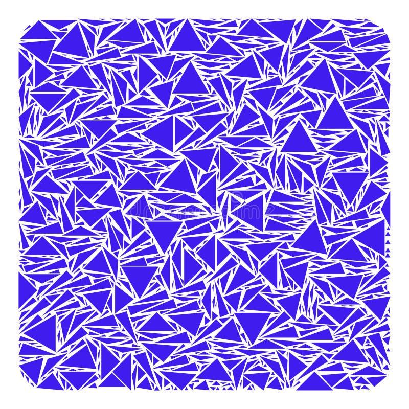 Wypełniający Kwadratowy kolaż trójboki ilustracja wektor
