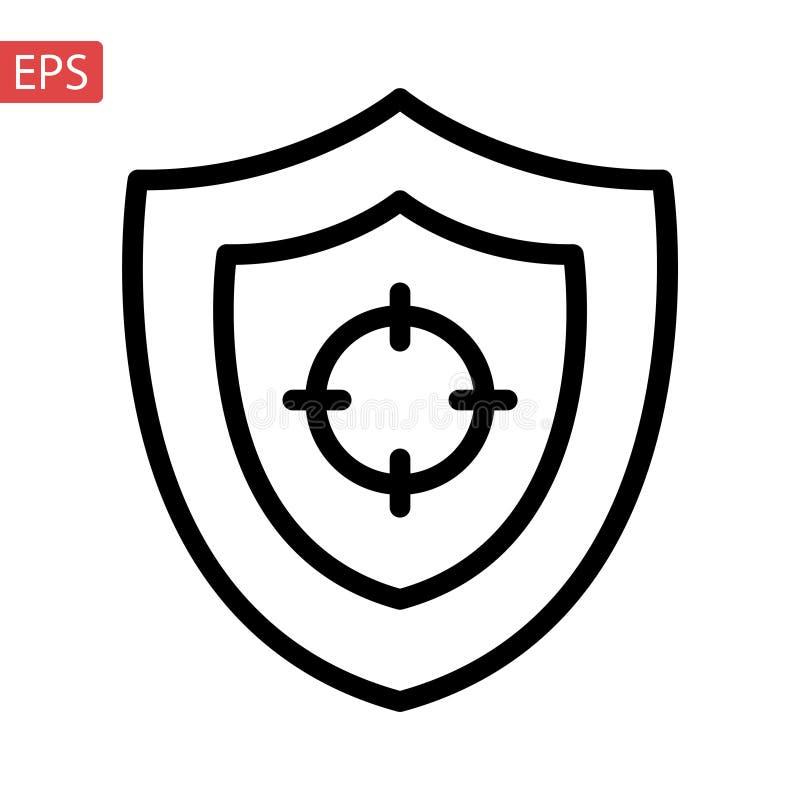 wypełniający mieszkanie znak, bryła odizolowywająca na bielu Symbol, logo ilustracja Piksel Perfect ilustracja wektor