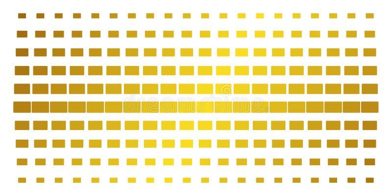 Wypełniający prostokąta Halftone Złocisty wzór ilustracji