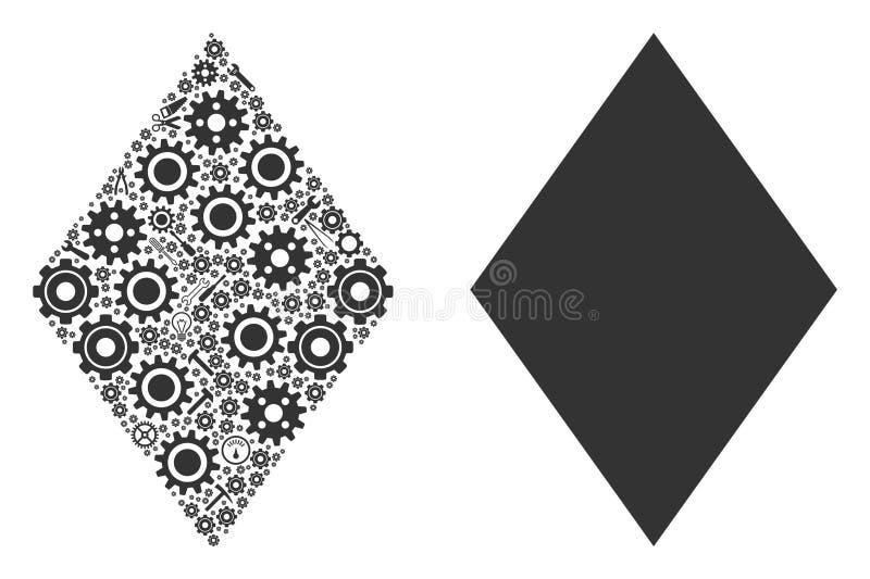 Wypełniający Rhombus skład Usługowi narzędzia ilustracja wektor