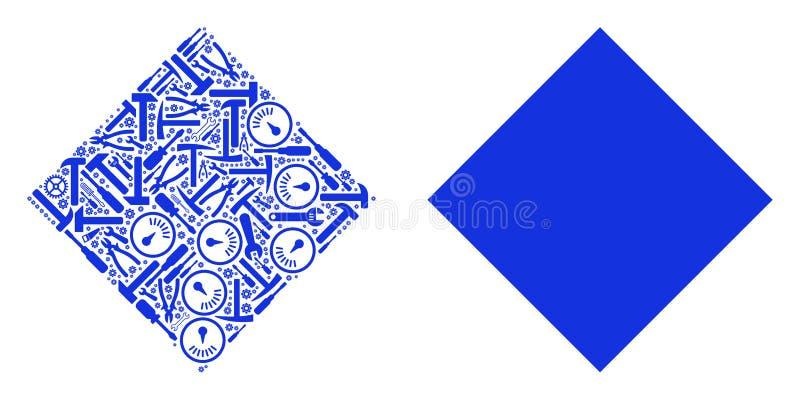Wypełniający Rhombus skład Usługowi narzędzia ilustracji