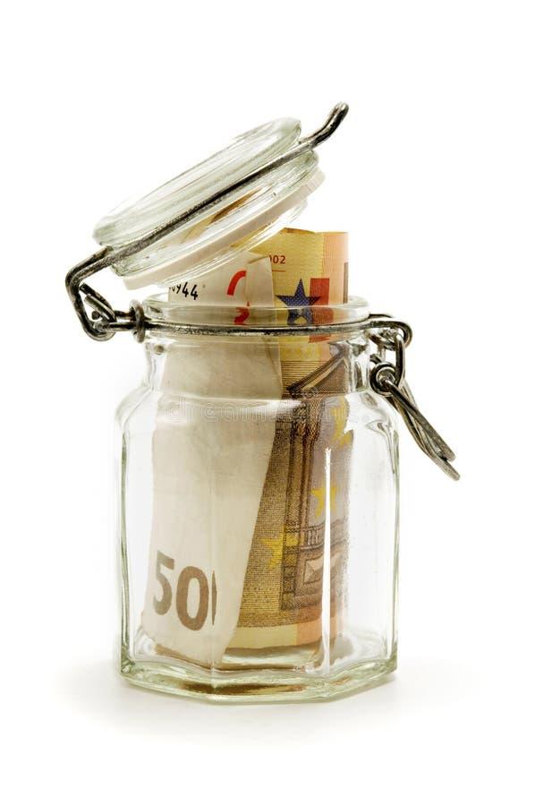 wypełniający słoju pieniądze papier obrazy royalty free