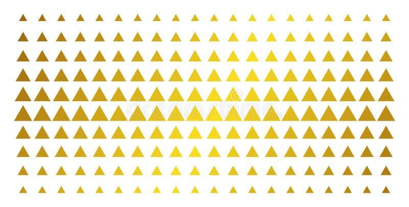 Wypełniający trójboka Halftone Złoty skutek ilustracji