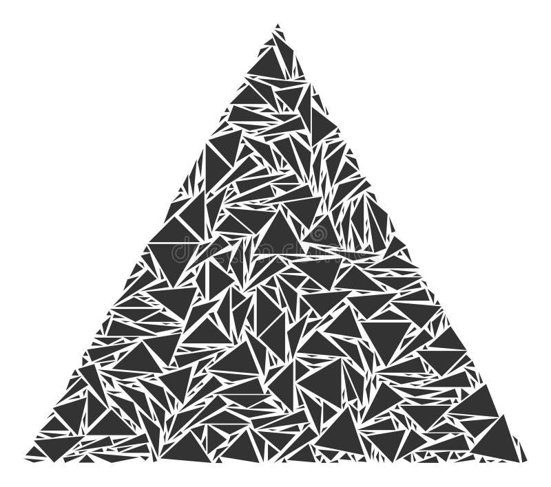 Wypełniający trójboka kolaż trójboki ilustracji