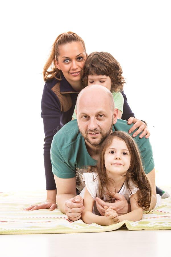 Wypiętrzająca rodzina fotografia stock