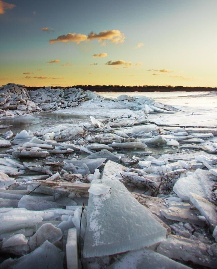 Wypiętrzający up lód fotografia royalty free