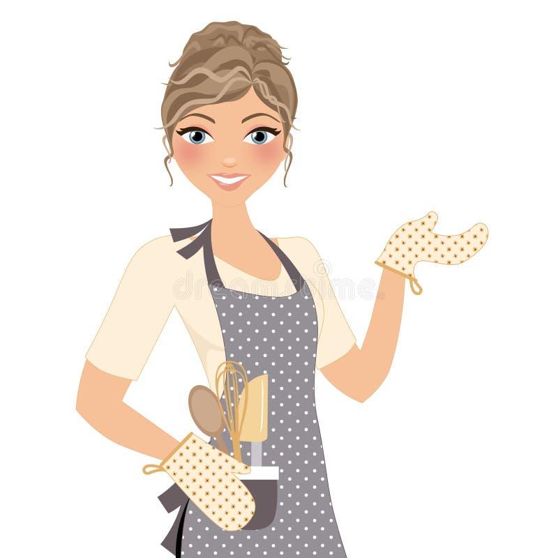 Wypiekowa kulinarna kobieta ilustracja wektor