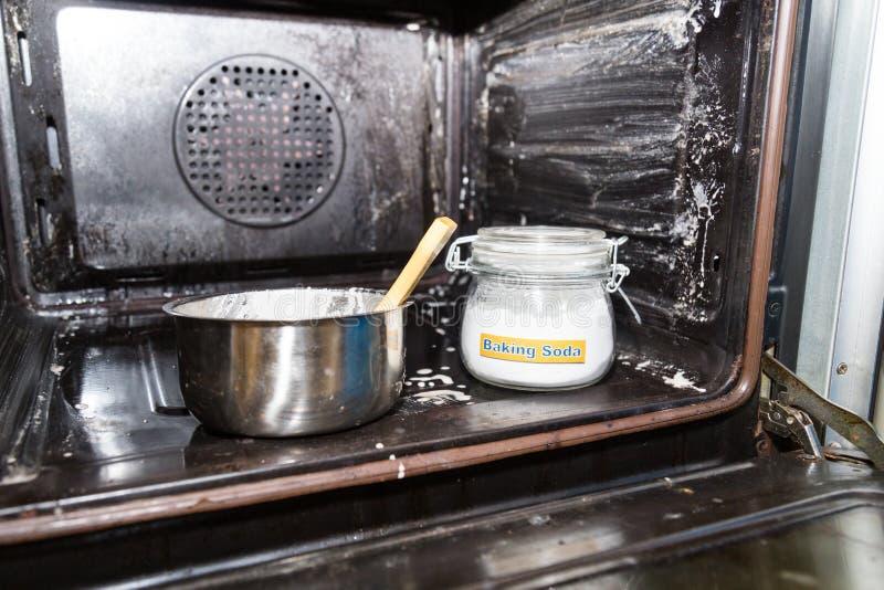 Wypiekowa soda lub sodium dwuwęglan jesteśmy wydajnym bezpiecznym czyści ag fotografia royalty free