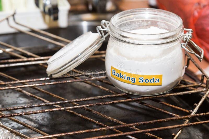 Wypiekowa soda lub sodium dwuwęglan jesteśmy wydajnym bezpiecznym czyści ag zdjęcie royalty free
