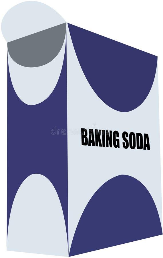 wypiekowa soda pudełkowata ilustracji