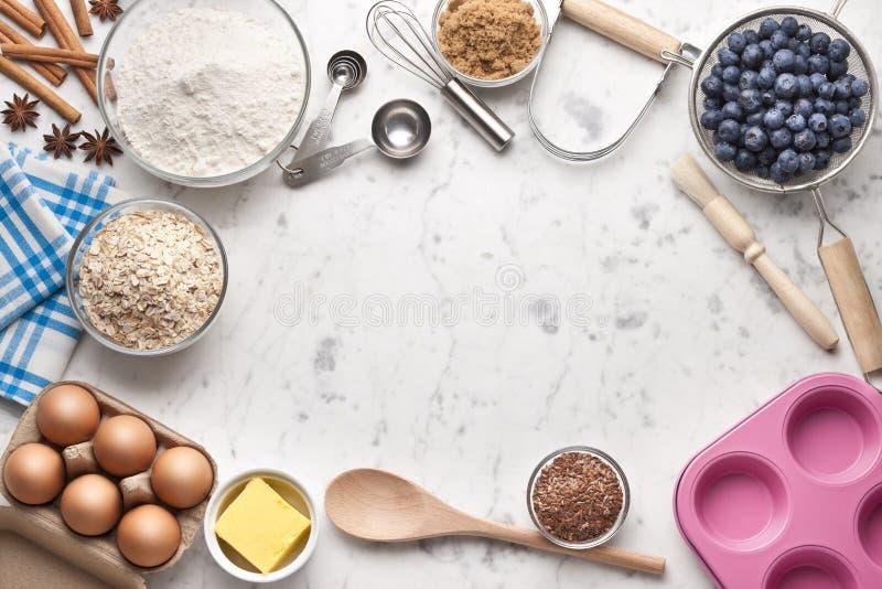 Wypiekowy Kulinarny Biały tło zdjęcia stock