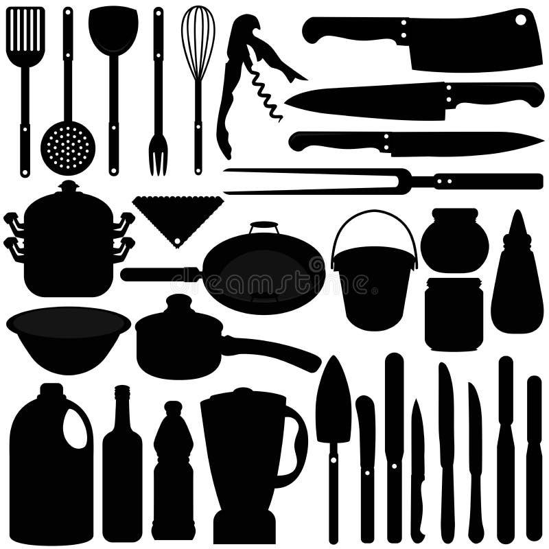 wypiekowy kulinarny wyposażeń noży naczynie royalty ilustracja
