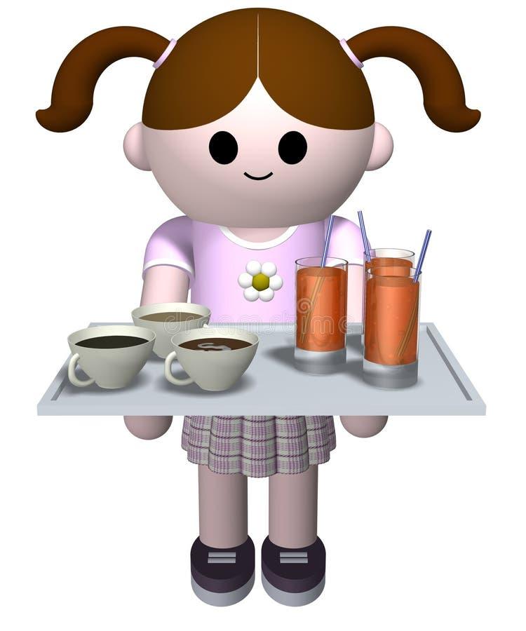 wypij dziewczyny porcję ilustracji