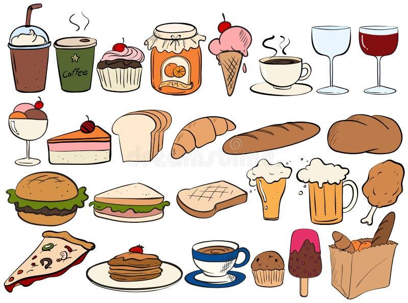 wypij jedzenie royalty ilustracja