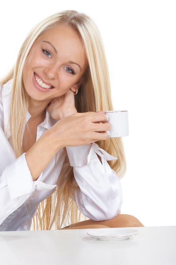 wypij kawę dziewczyny fotografia stock