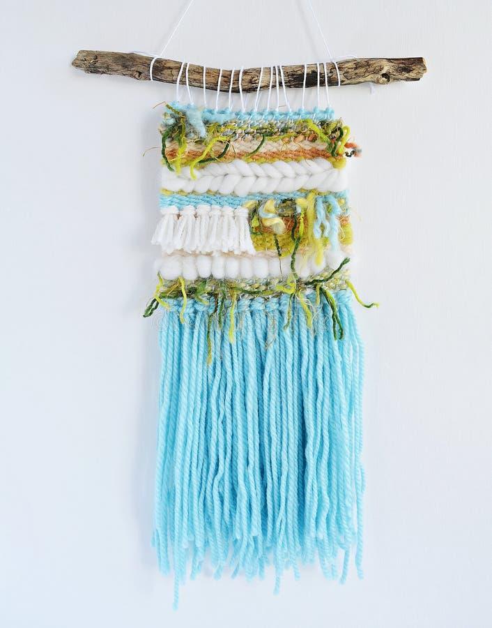 Wyplatać handmade ściennego obwieszenie zdjęcie stock