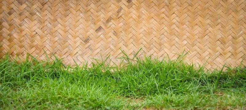 Wyplata bambusowej trawy fotografia stock