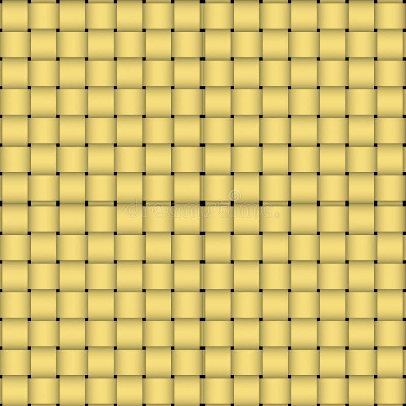 wyplatający tekstury koszykowy wicker ilustracja wektor