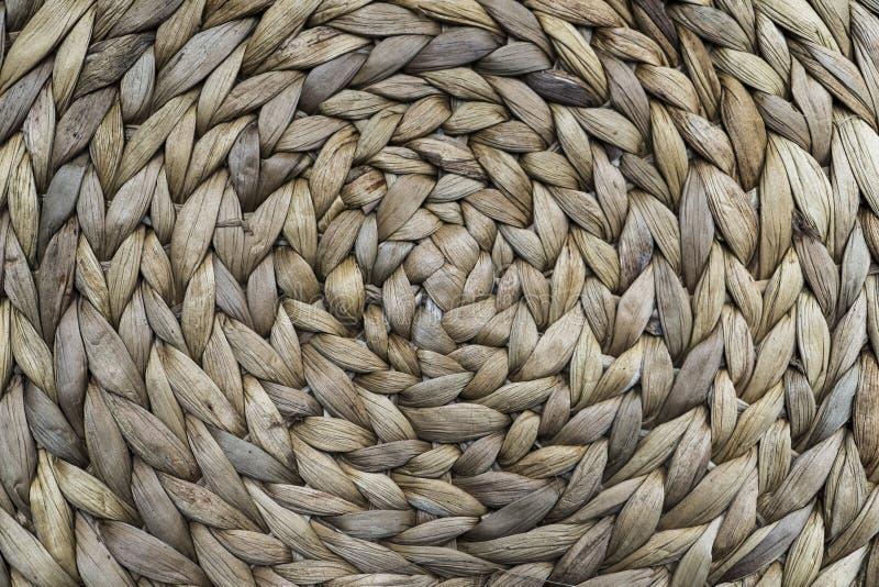 Wyplatający tradycyjny rattan dywanik struktura obraz royalty free