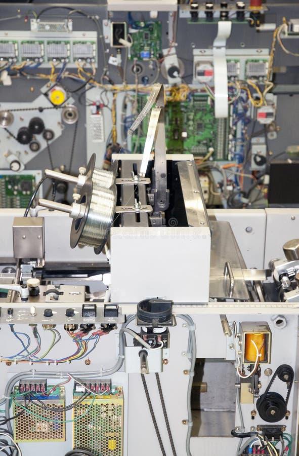 wyposażenia apretury linia druk fotografia stock