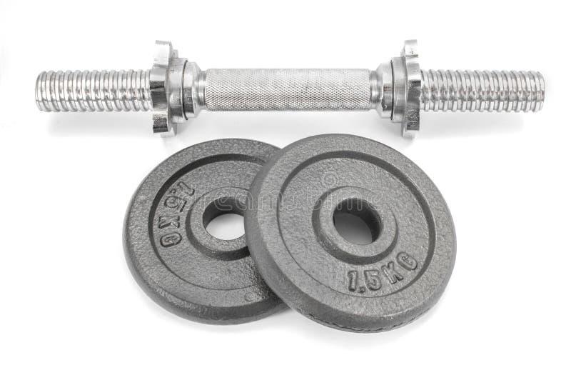 Download Wyposażenia Dumbbell Ciężary Na Białym Tle Obraz Stock - Obraz złożonej z motywacja, kahat: 53788341