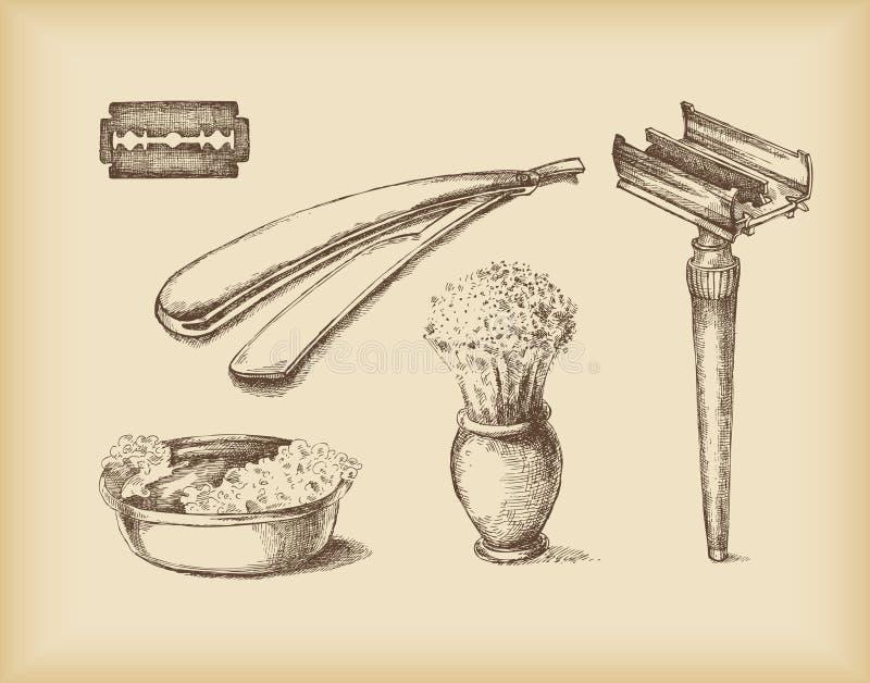 wyposażenia golenie ilustracji