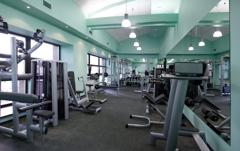wyposażenia gym pokój obrazy royalty free