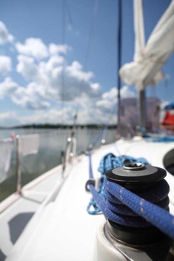 wyposażenia s sailboater jacht fotografia stock