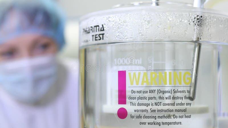 Wyposażenie dla badać i analizować leki i medycyny w chemicznym laboratorium eksperyment z w laboratorium zdjęcie stock