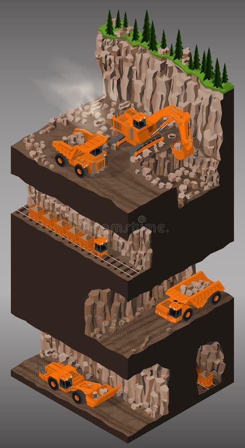 Wyposażenie dla kopalnictwo przemysłu ilustracja wektor