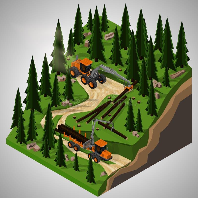 Wyposażenie dla leśnego przemysłu royalty ilustracja