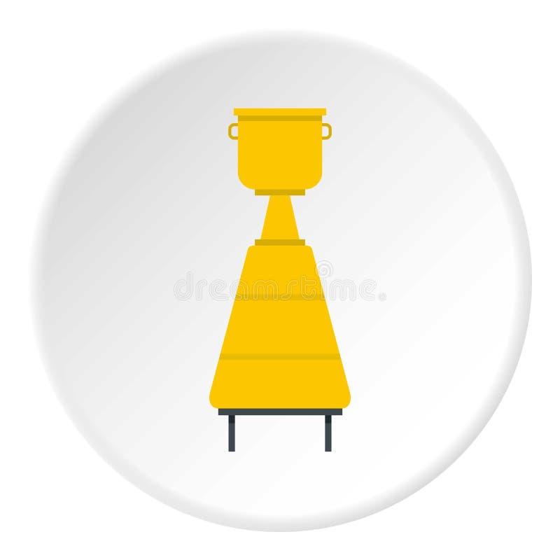 Wyposażenie dla produkci wino ikony okrąg royalty ilustracja