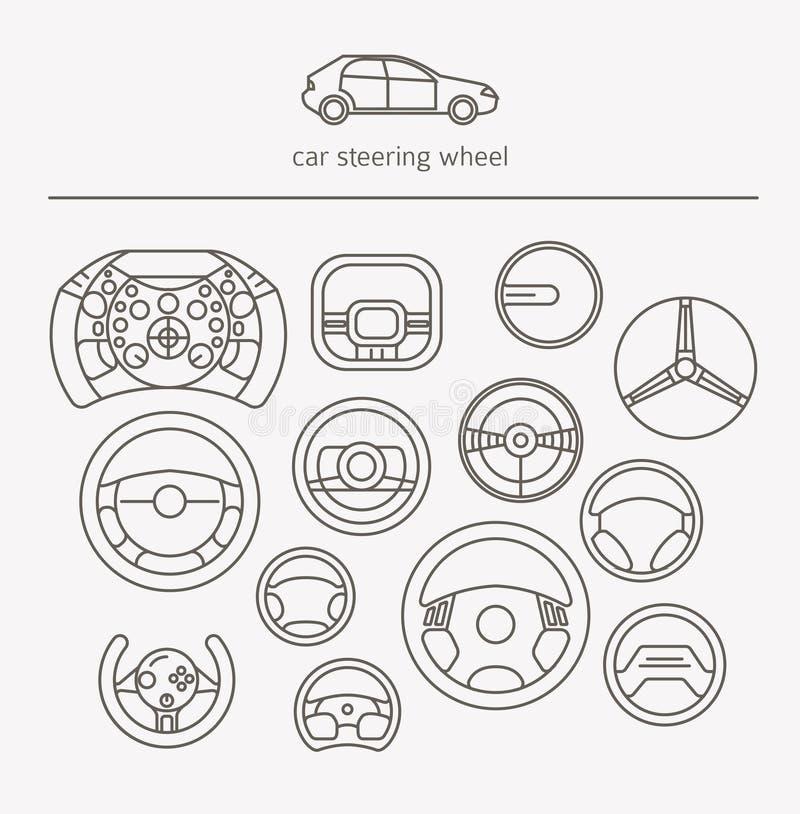 Wyposażenie dla przewiezionego napędowego logo setu Hełm, rudder, samochodu st royalty ilustracja