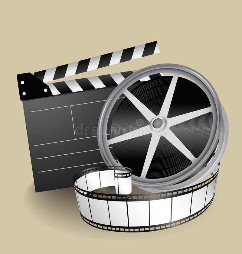 wyposażenie filmu wektor ilustracji