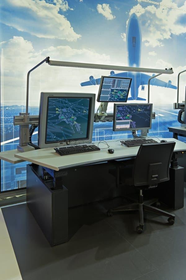 Wyposażenie kontrolerzy lotów fotografia stock