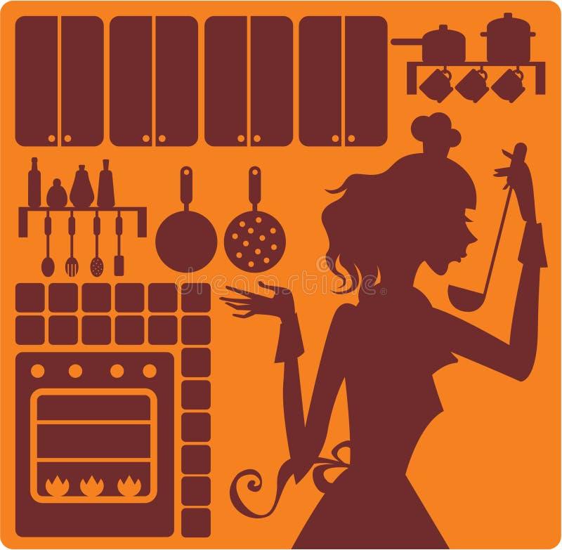 wyposażenie kuchnia royalty ilustracja